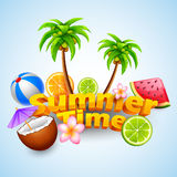 Summer Time poster design Royalty Free Stock Image