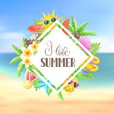Summer time poster Stock Images