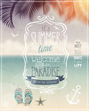 Summer time poster. Stock Images