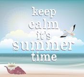 Summer time poster. Vector art background,illustration or print Stock Image