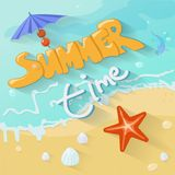 Summer time poster. Vector Royalty Free Stock Images