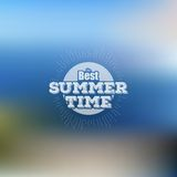 Summer time poster, vector web and mobile Stock Photo