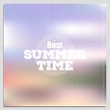 Summer time poster, vector web and mobile Royalty Free Stock Photos