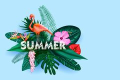 Summer time poster wallpaper for fun party invitation banner template. Illustration of Summer time poster wallpaper for fun party invitation banner template stock illustration