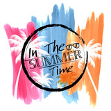 Summer time poster wallpaper for fun party invitation banner template Stock Photos
