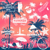 Summer time poster wallpaper for fun party invitation banner template Stock Photo