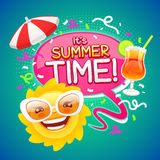 Summer Time Poster Stock Photography