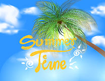 Summer time scene vector Stock Photography
