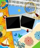 Summer time scrapbook design Stock Images