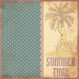 Summer time scrapbooking background in vintage style Royalty Free Stock Photos
