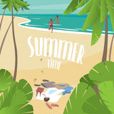 Summer time on the sea royalty free illustration