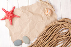 Summer time sea vacation background Royalty Free Stock Photo