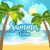 Summer time sea view background Stock Photos