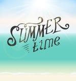 Summer Time Seaside Vector Background Illustration vector illustration