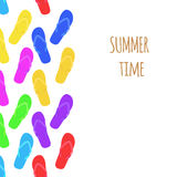 Summer time. Slippers. Banner. Vector Stock Images