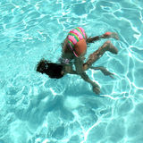 Summer-Time Somersault Royalty Free Stock Photo