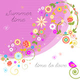 Summer Time. Summer multicolored  flowers. Summer Flowers Background Stock Photos