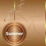 Summer time. summer word on golden luxury background Stock Photo