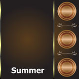 Summer time. summer word on golden luxury background, summer holidays Royalty Free Stock Photo