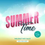 Summer Time Template Banner stock illustration