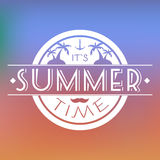 Summer Time Text Card Vector Illustration. Stock Photography