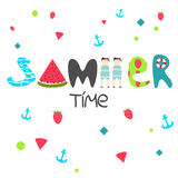Summer time title Stock Images