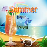 Summer time for travel Royalty Free Stock Photo