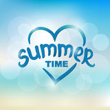 Summer time - typographic design Stock Images