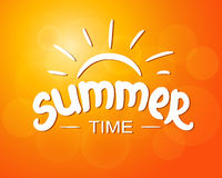 Summer time - typographic design Royalty Free Stock Photos