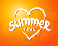 Summer time - typographic design Stock Photos