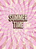 Summer Time typographic retro grunge poster. Vector illustration. Eps 10. Royalty Free Stock Images