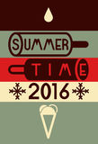 Summer time typographical poster. Vector illustration. Stock Images