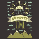 It is summer time typographics print designs in Royalty Free Stock Photo