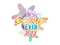 Summer time typography Stock Images
