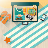 Summer time vacations on the beach Royalty Free Stock Photography