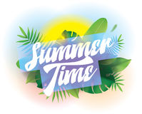 Summer time. Vector background for posters and banners. royalty free illustration