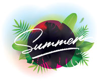 Summer time. Vector background for posters and banners. vector illustration