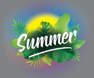 Summer time. Vector background for posters and banners. stock illustration