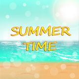 Summer Time. Vector illustration. Stock Images