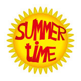 Summer time. Vector sign isolated on white. Summer time Royalty Free Stock Photo