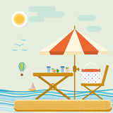 Summer time vector tropical leisure water outdoor sunlight tourism. Stock Image