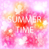 Summer time. Vintage yellow, rose season background whith flower Stock Images