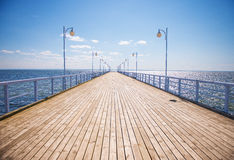 Summer time at the wooden pier Royalty Free Stock Image