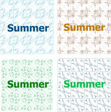 Summer time word. Typographic print poster. Holiday card set Royalty Free Stock Images