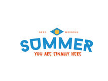 Summer time. Summer you are finally here Royalty Free Stock Photography