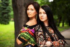 Summer time. young women Stock Photos