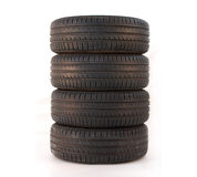 4 summer tires Royalty Free Stock Photos