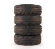 4 summer tires Royalty Free Stock Photos