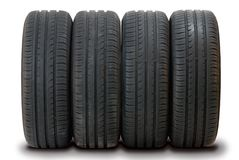 4 summer tires Stock Photo