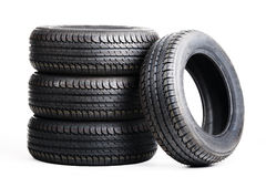 Summer tires isolated on white background Royalty Free Stock Photo